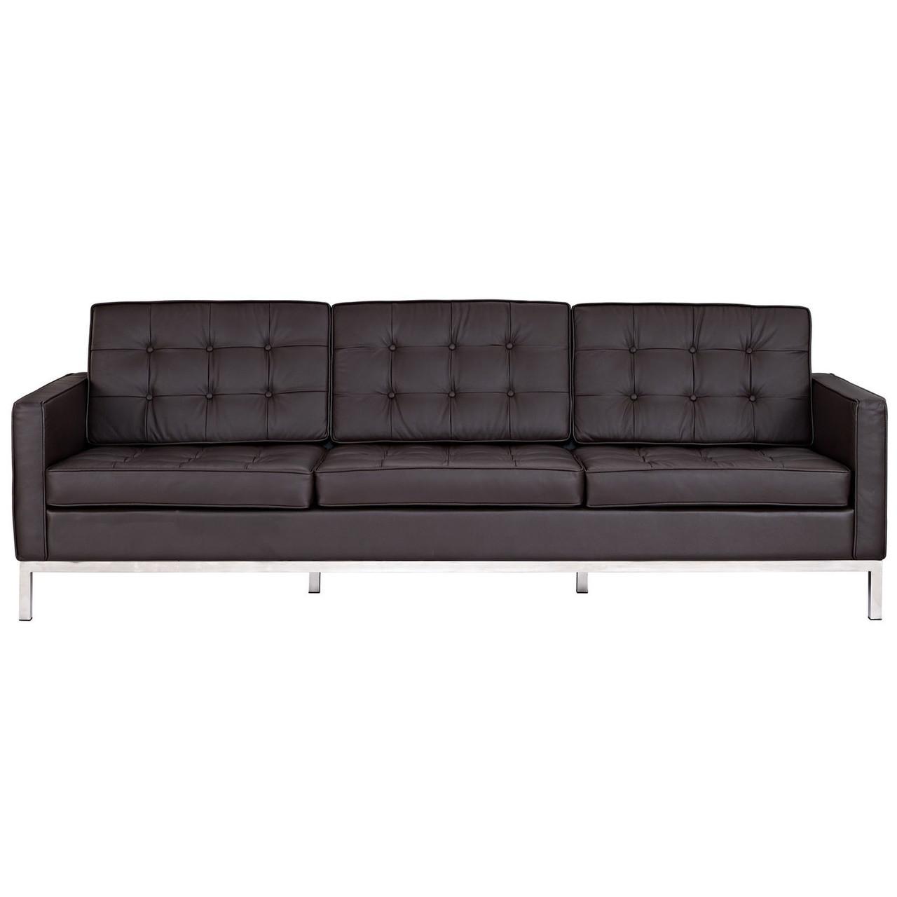 florence style leather loft sofa zin home. Black Bedroom Furniture Sets. Home Design Ideas