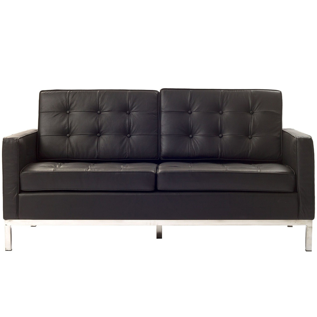 florence style leather loft loveseat  zin home - tan leather · black leather · white leather · brown leather