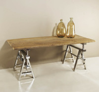 Hatcher Industrial Dining Table 75""