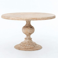 "Rustic 48"" Round Pedestal Dining Table"