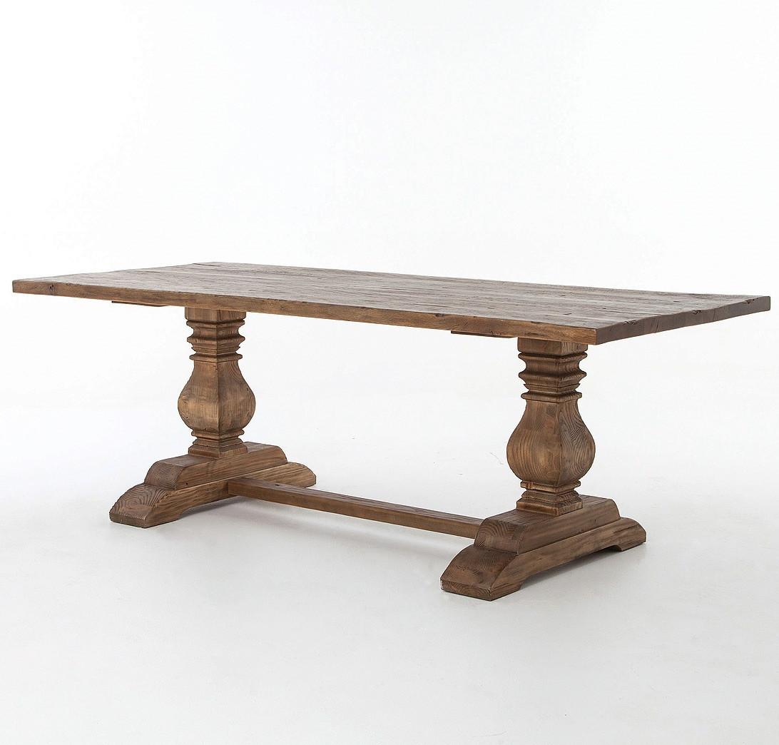 Natural Rustic Reclaimed Wood Trestle Dining Table 87  : NaturalReclaimedWoodTrestleDiningTable8735483142965398712801280 from www.zinhome.com size 1092 x 1044 jpeg 175kB