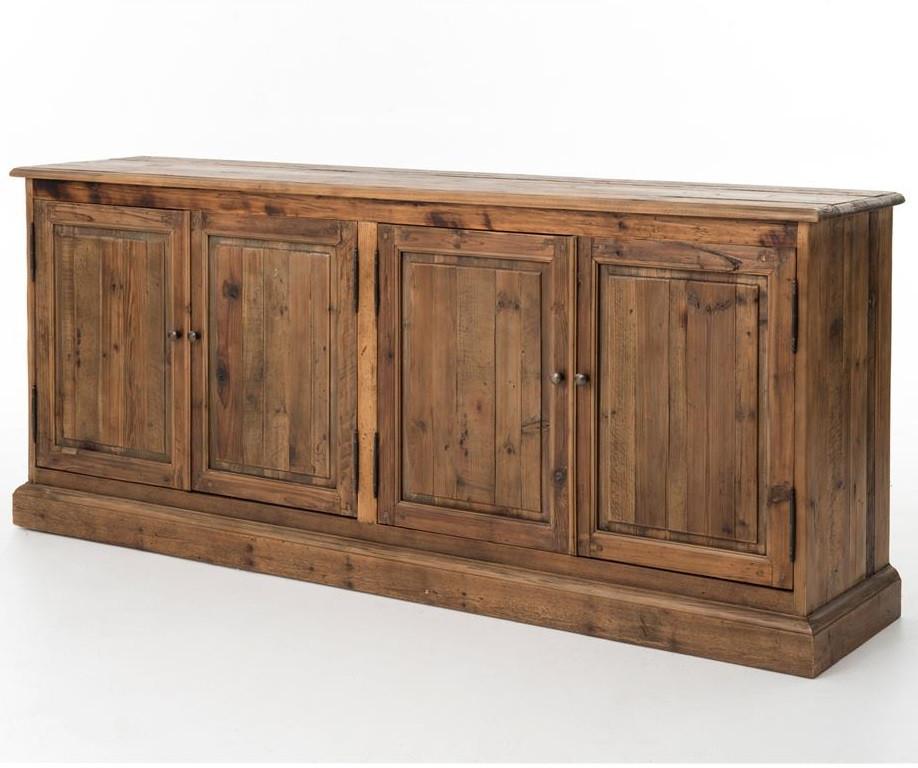 Farmhouse style Reclaimed wood buffet server ... - Salvaged Wood 4 Door Buffet Sideboard 79