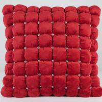 Italian Square Pillows with Swarovski Crystals