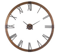 Amarion Rustic Metal Oversized Wall Clock 60""