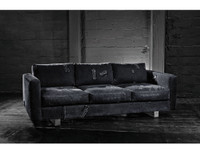 Bina Industrial Sofa-Black