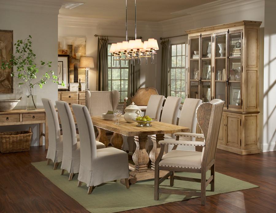 Trestle Salvaged Wood Dining Table 87\