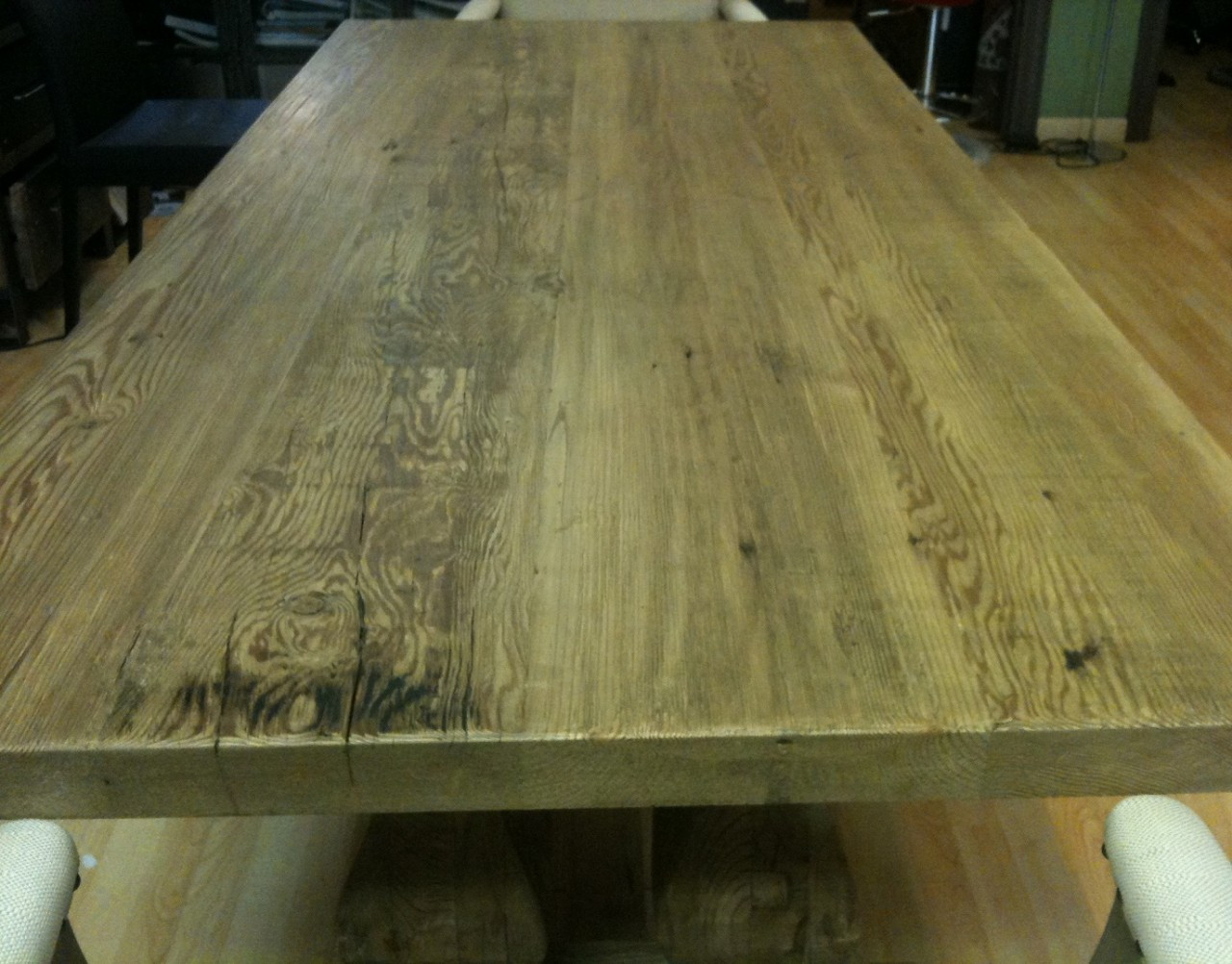 Trestle Salvaged Wood Dining Table 87 Quot Zin Home