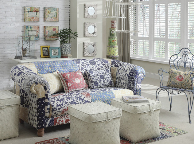 Chesterfield Patchwork Sofa 80 Quot Zin Home