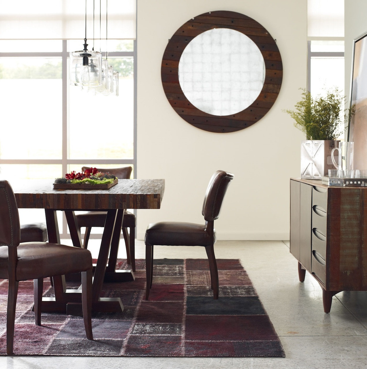 mimi biker tan brown leather dining chairs