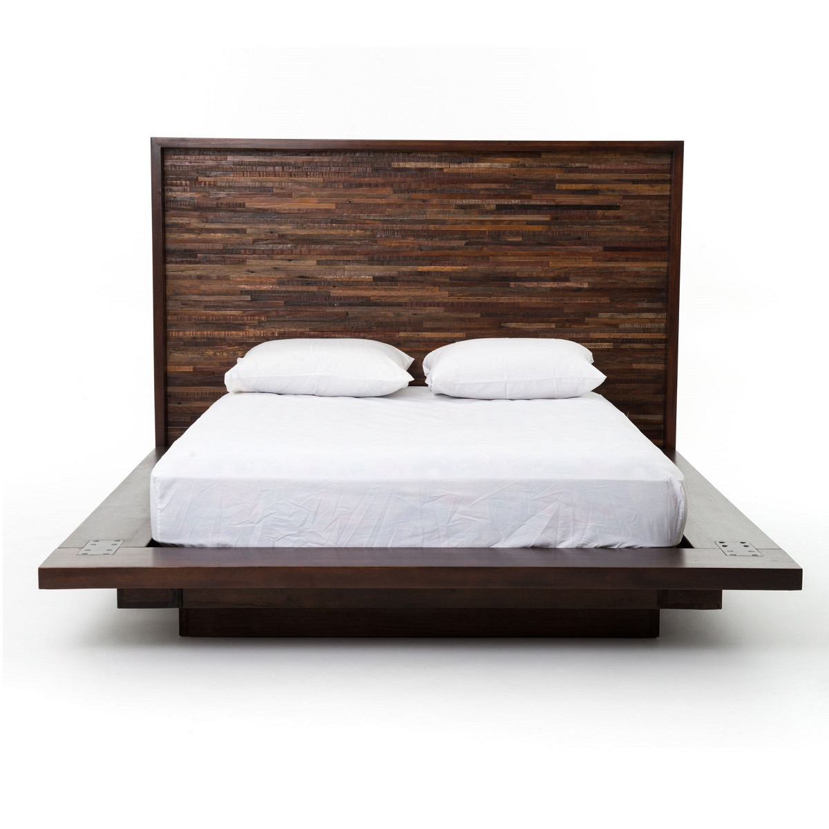 Devon Reclaimed Wood Queen Platform Bed Frame Zin Home