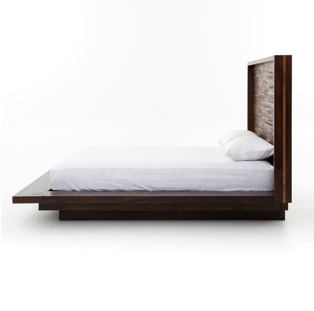 King platform bed frame -  Devon Reclaimed Wood King Platform Bed Frame