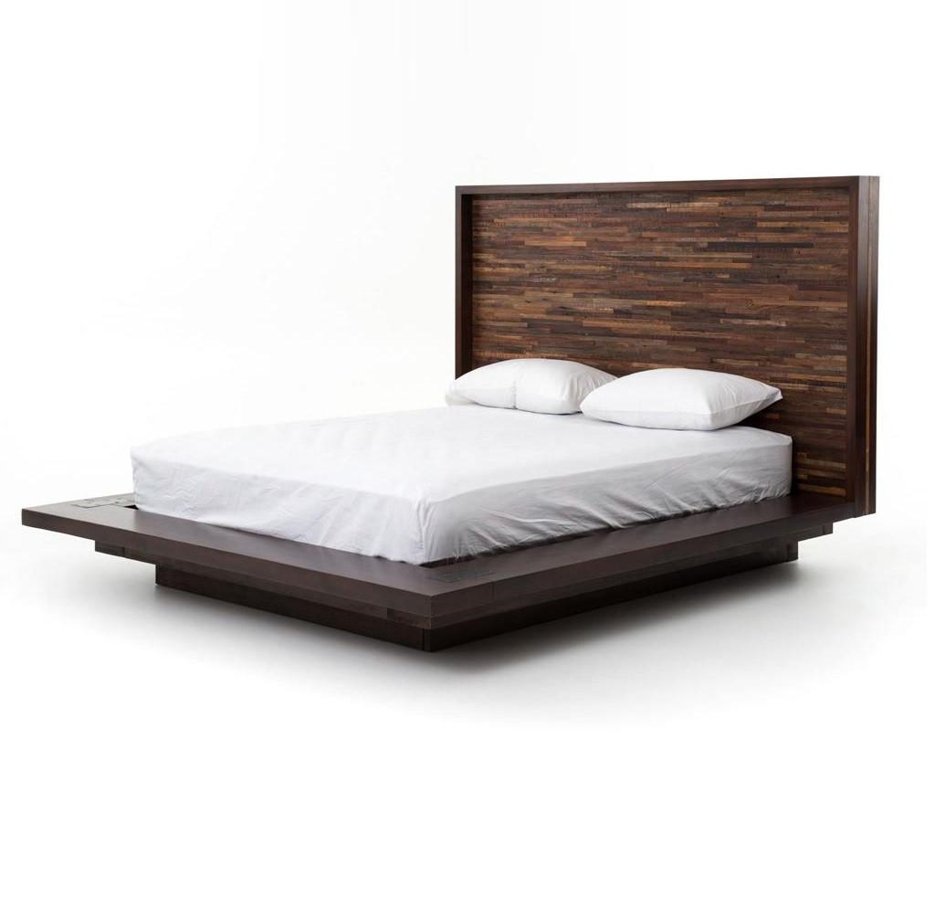 king platform bed frames - reclaimed wood rustic devon king platform bed frame zin home