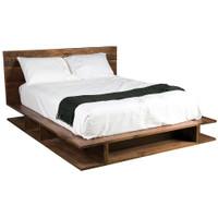 Bina Bonnie King Bed- Rustic Reclaimed Wood Platform Bed Frame