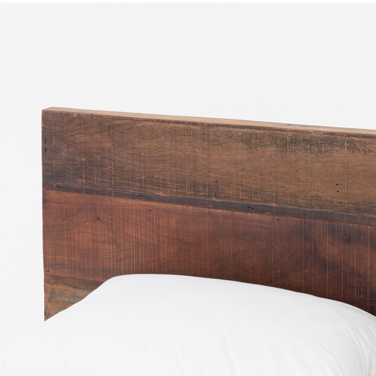 ... Bonnie Reclaimed Wood King Platform Bed with headboard ... - Bonnie Rustic Reclaimed Wood King Platform Bed Frame Zin Home