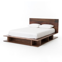 Bonnie Reclaimed Wood King Platform Bed