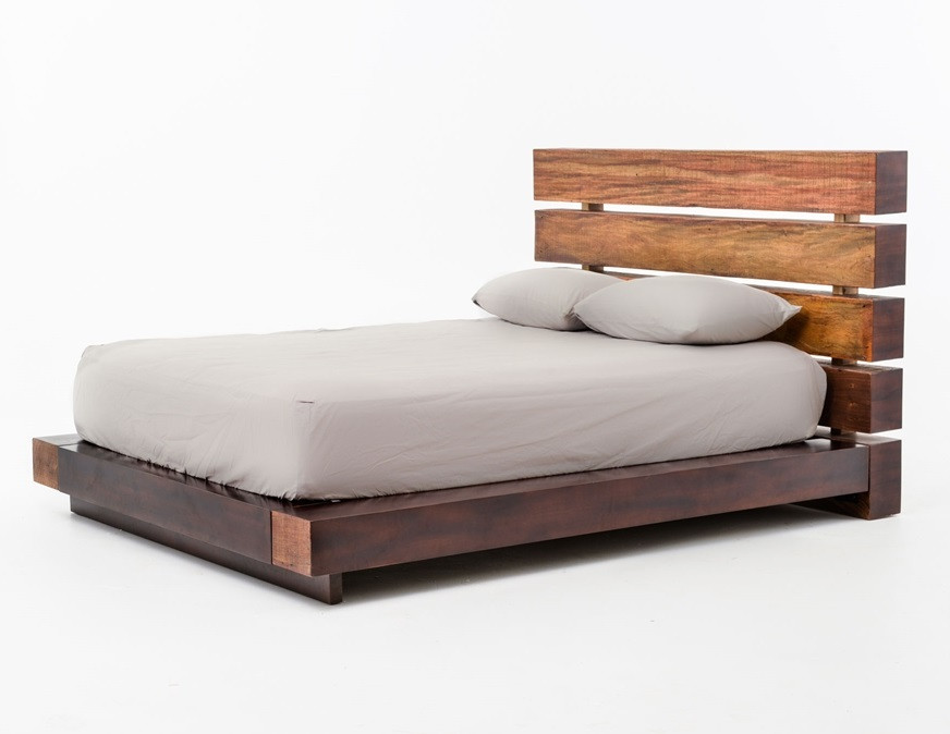 Bina Iggy Solid Wood Queen Platform Bed Frame Zin Home