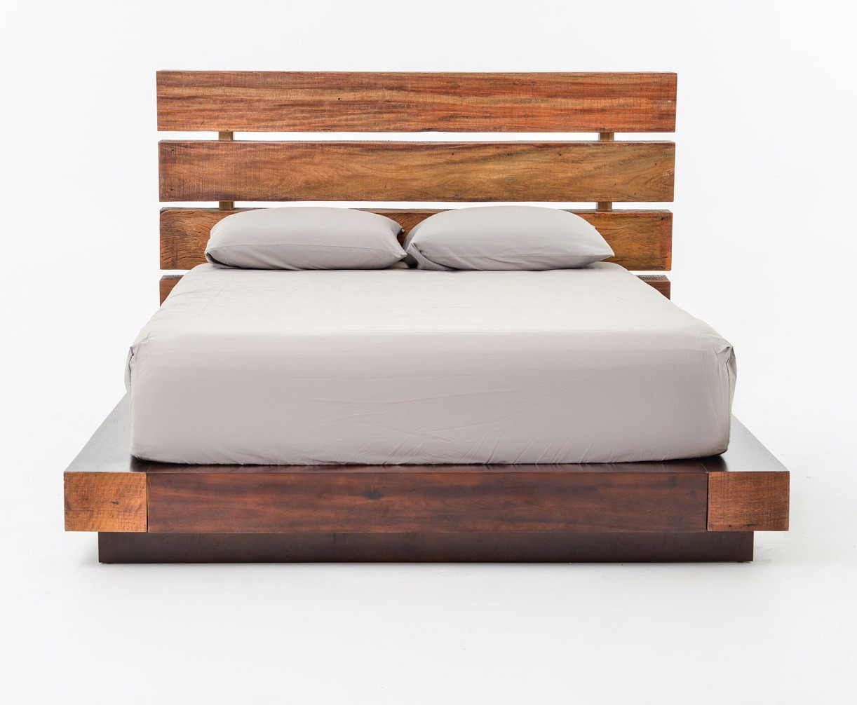 bina iggy king platform bed  reclaimed wood platform bed frame  - image