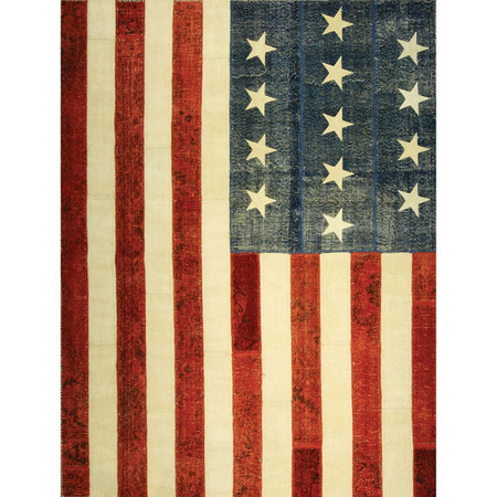 Quot American Flag Quot Patchwork Rugs Usa Flag Patchwork Rug