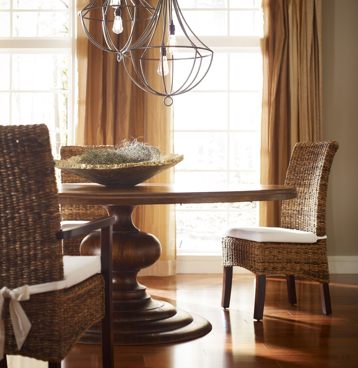 """76"""" Large Round Pedestal Dining Room Table"""