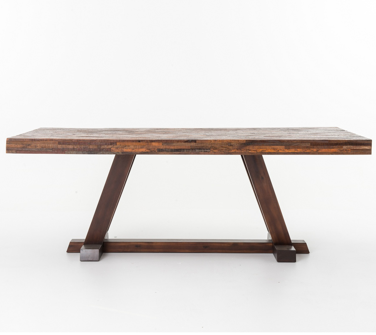 Beautiful New York Loft Reclaimed Wood Coffee Tables: Rustic Reclaimed Wood Bina Max Dining Table 84""