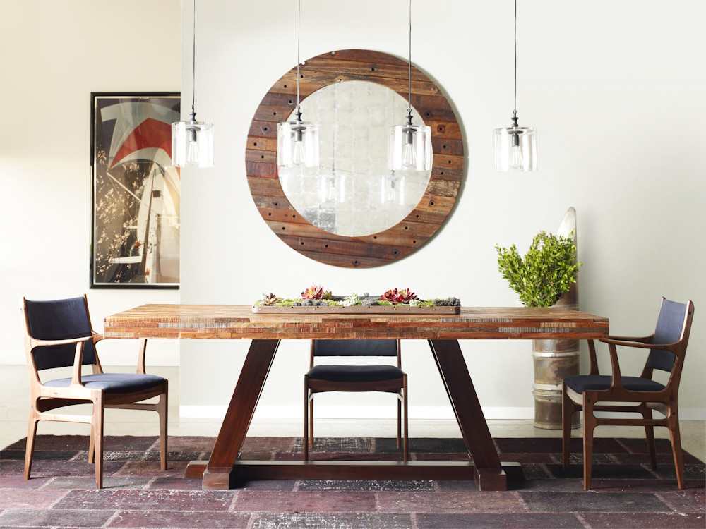Rustic Reclaimed Wood Bina Max Dining Table 84"