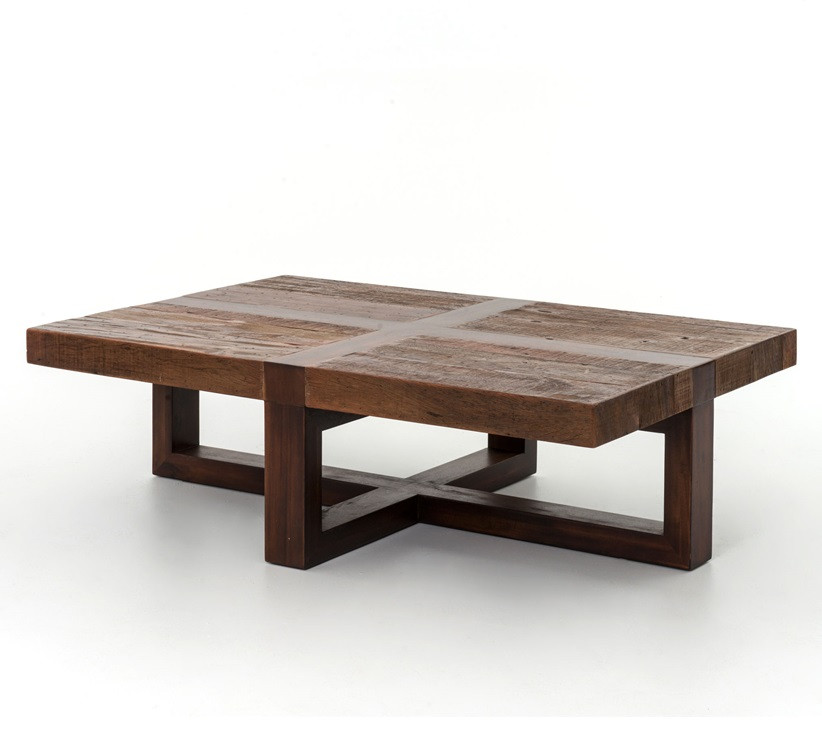 Beautiful New York Loft Reclaimed Wood Coffee Tables: Reclaimed Wooden Rustic Coctail Table