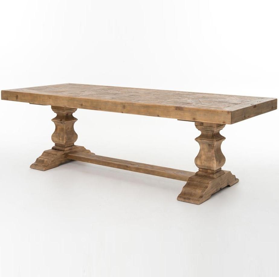 English Castle Reclaimed Wood Dining Trestle Table 98  : EnglishCastleDiningTrestleTable525641144467343812801280 from www.zinhome.com size 924 x 920 jpeg 90kB