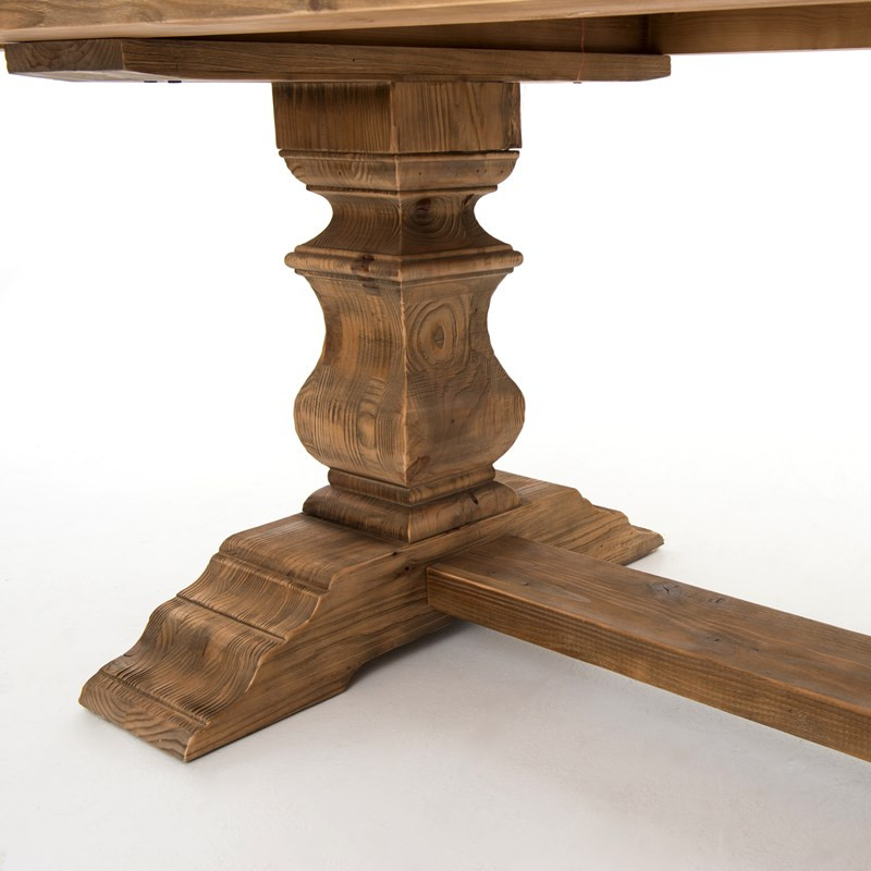 English Castle Reclaimed Wood Dining Trestle Table  Zin Home - Trestle dining room table