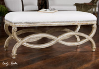 Linene Upholstered end of bed bench