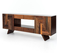Rustic Reclaimed Wood Bina Rex Media Cabinet