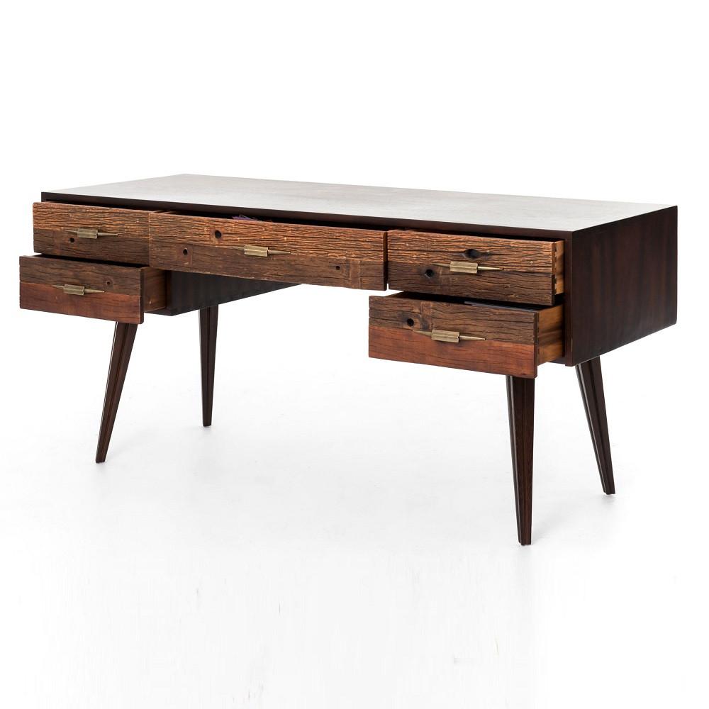 Reclaimed Wood Rustic Home Office: Rustic Modern Home Office Desks