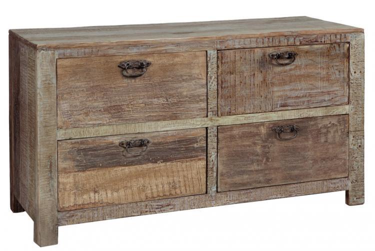 Hampton reclaimed teak wood 4 Drawer Dresser ... - Hampton Reclaimed Wood 4 Drawer Dresser Zin Home