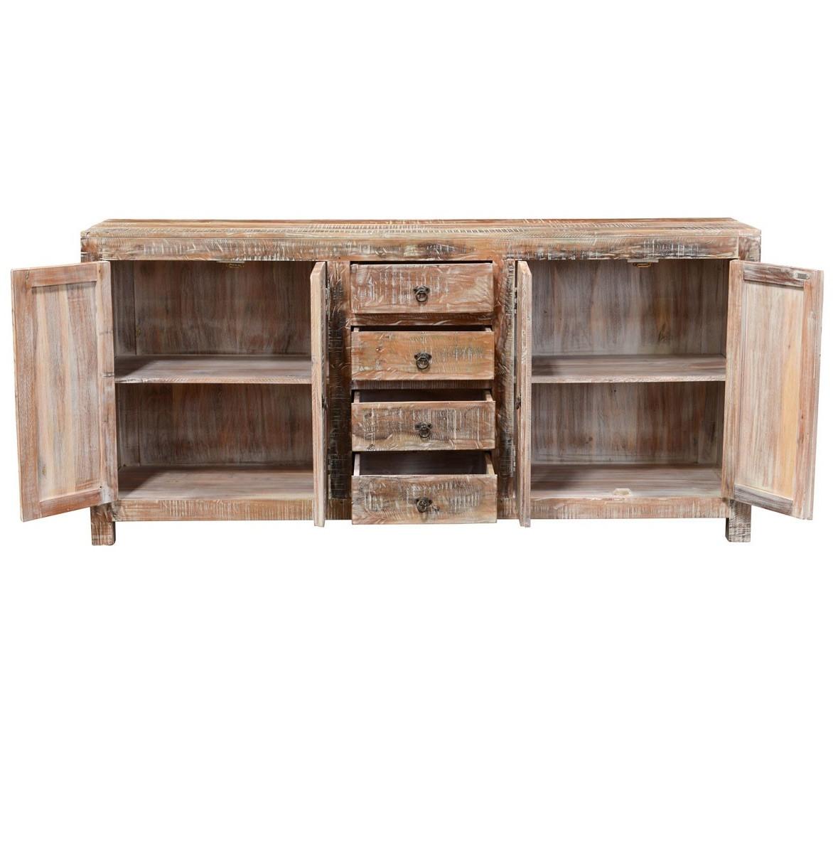Teak Wood Buffet ~ Hampton rustic teak wood buffet sideboard zin home