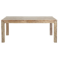 "Hampton farmhouse dining tables 82"" in Lime Wash finish"