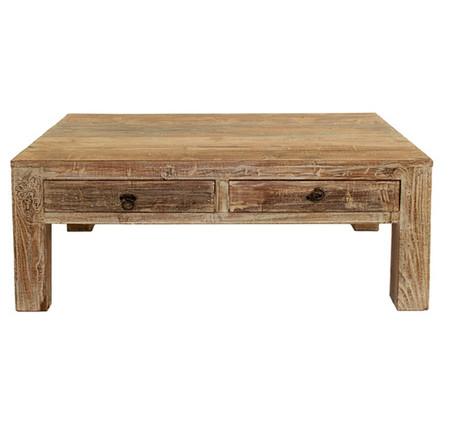 Hampton Reclaimed Wood Coffee Table With 2 Drawers Zin Home