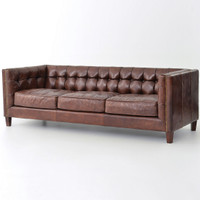 carnegie abbott 85 inch contemporary leather sofa. Interior Design Ideas. Home Design Ideas