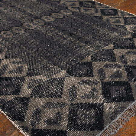 Tile Hand Knotted Gray Wool Area Rugs Zin Home