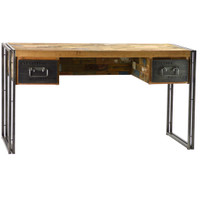 Spike Industrial 2 Drawer Desk