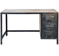 Spike Industrial 3 Drawer Desk