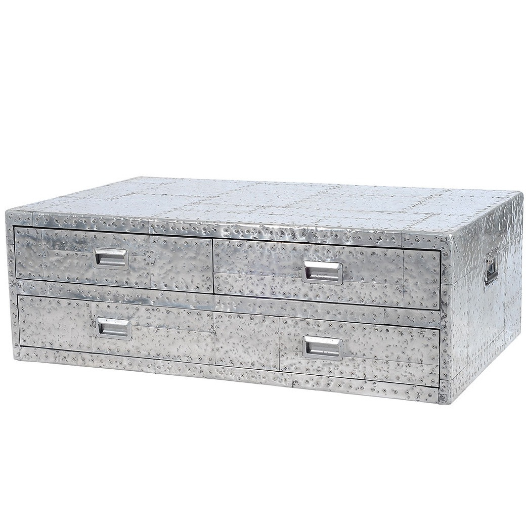 Metal Steamer Trunk Coffee Table Trunk Coffee Tables Storage Trunks ...