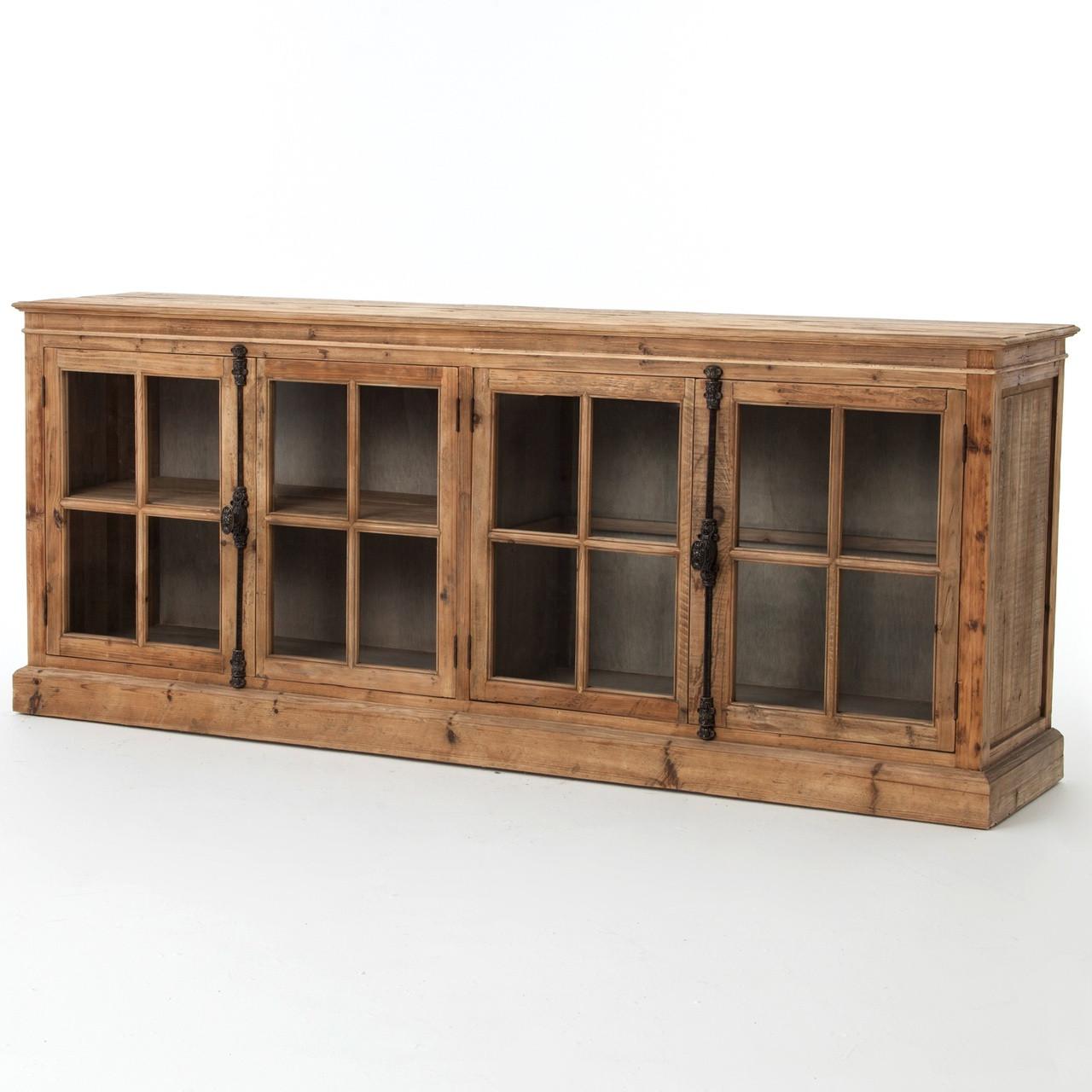 monaco reclaimed wood buffet sideboard   zin home - monaco reclaimed wood buffet sideboard