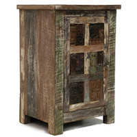 Distressed Wood Shabby Chic 1 Door Nightstand