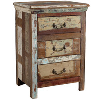 Shabby Chic 3 Drawer Side Table