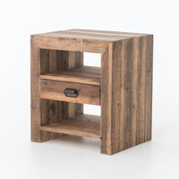 Angora Reclaimed Wood 1 Drawer Nightstand