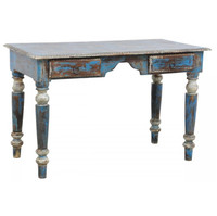 Shabby Chic Vintage Desk-Blue