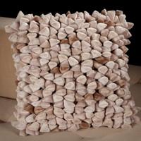 Pebble Chamois Pillow-Taupe