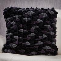 Pebble Chamois Pillow-Charcoal
