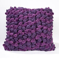 Pebble Chamois Pillow-Grape