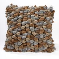 Pebble Chamois Pillow-Greige