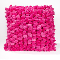 Pebble Chamois Pillow-Pink
